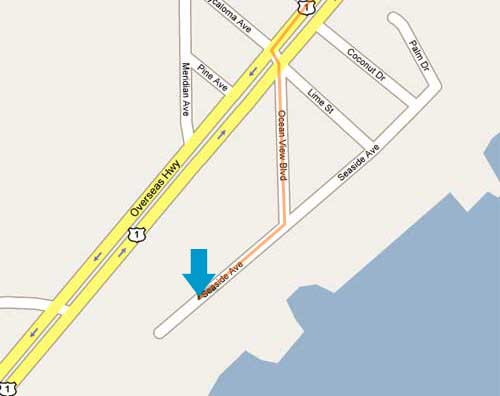 key largo location map and directions